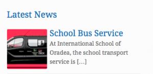 transportul elevilor la International School of Oradea